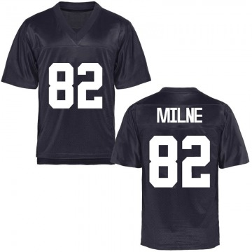 Men's Dax Milne BYU Cougars Game Navy Blue Football College Jersey