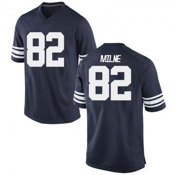 Men's Dax Milne BYU Cougars Nike Replica Navy Football College Jersey