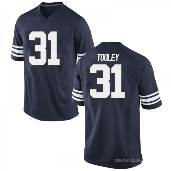 Men's Max Tooley BYU Cougars Nike Game Navy Football College Jersey