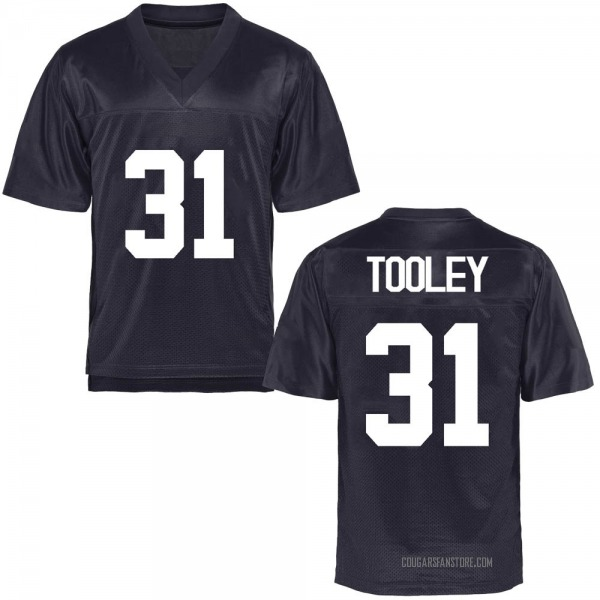 Men's Max Tooley BYU Cougars Replica Navy Blue Football College Jersey