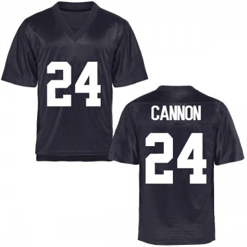 Men's McKay Cannon BYU Cougars Game Navy Blue Football College Jersey