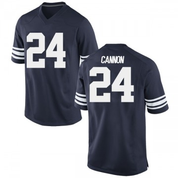 Men's McKay Cannon BYU Cougars Nike Replica Navy Football College Jersey