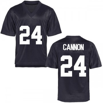 Men's McKay Cannon BYU Cougars Replica Navy Blue Football College Jersey