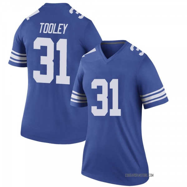 Women's Max Tooley BYU Cougars Nike Legend Royal Football College Jersey