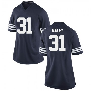 Women's Max Tooley BYU Cougars Nike Replica Navy Football College Jersey