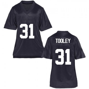 Women's Max Tooley BYU Cougars Replica Navy Blue Football College Jersey
