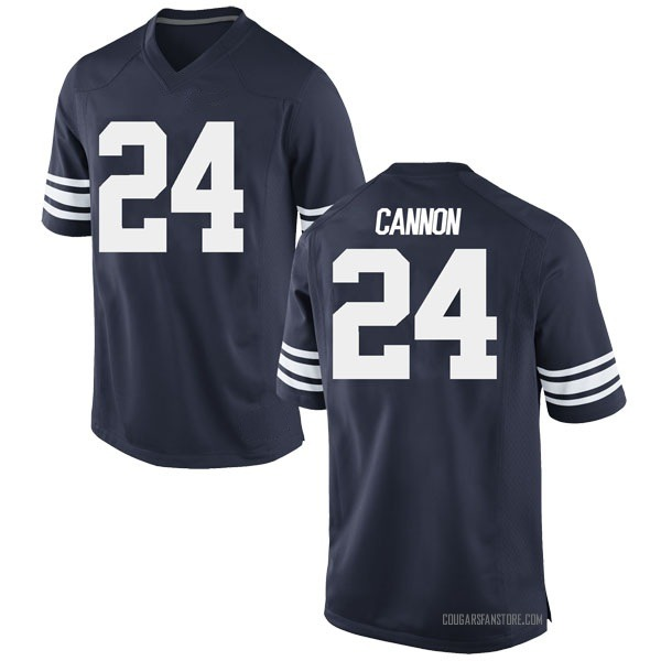 Youth McKay Cannon BYU Cougars Nike Replica Navy Football College Jersey